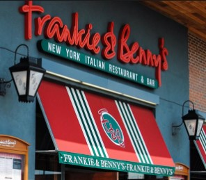 You can find the delicius steaks of Frankie & Benny's restaurant in the Brewery.