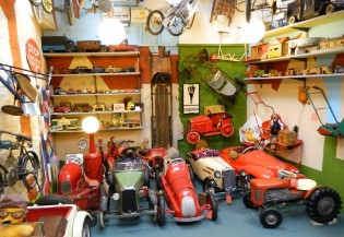 A collection of vintage cars and toys can be found in the Motoring museum.